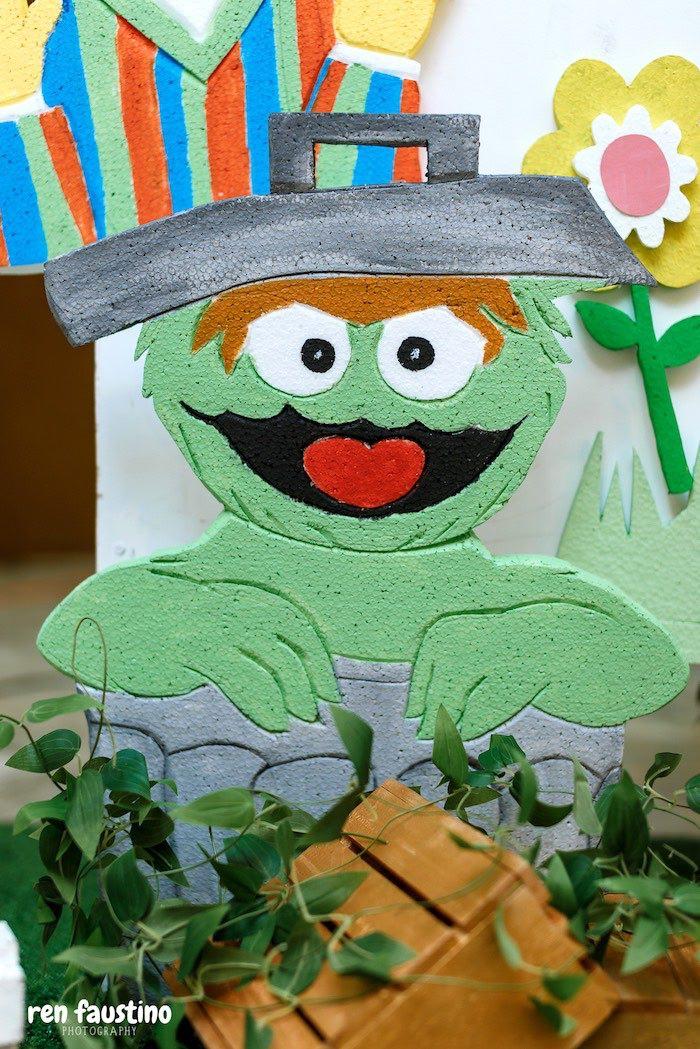 Oscar the Grouch from a Sesame Street Birthday Party on Kara's Party Ideas | KarasPartyIdeas.com (9)