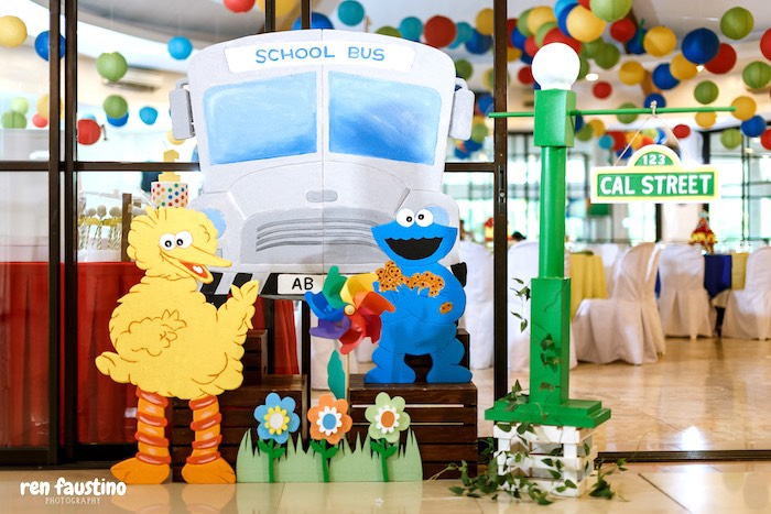 Sesame Street Party Entrance from a Sesame Street Birthday Party on Kara's Party Ideas | KarasPartyIdeas.com (30)