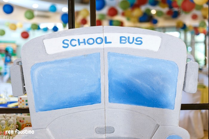 School Bus Standee from a Sesame Street Birthday Party on Kara's Party Ideas | KarasPartyIdeas.com (29)