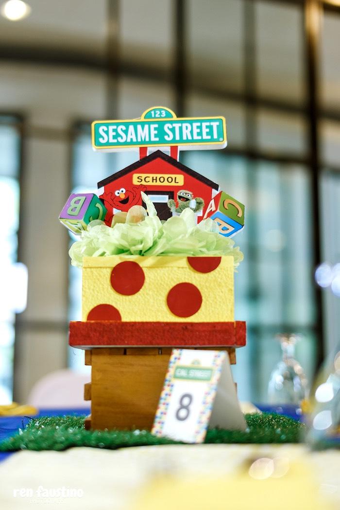Sesame Street Table Centerpiece from a Sesame Street Birthday Party on Kara's Party Ideas | KarasPartyIdeas.com (25)