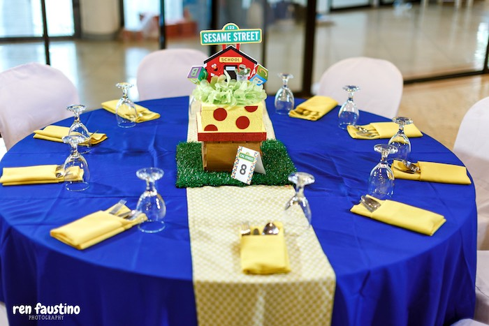 Sesame Street Party + Guest Table from a Sesame Street Birthday Party on Kara's Party Ideas | KarasPartyIdeas.com (24)