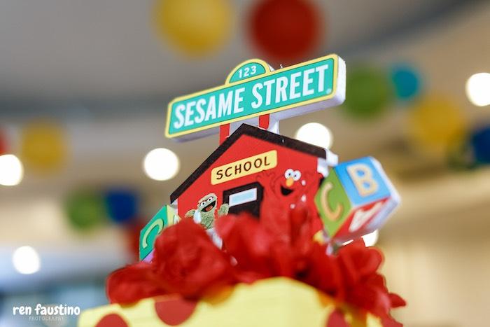 Sesame Street Table Centerpiece from a Sesame Street Birthday Party on Kara's Party Ideas | KarasPartyIdeas.com (23)