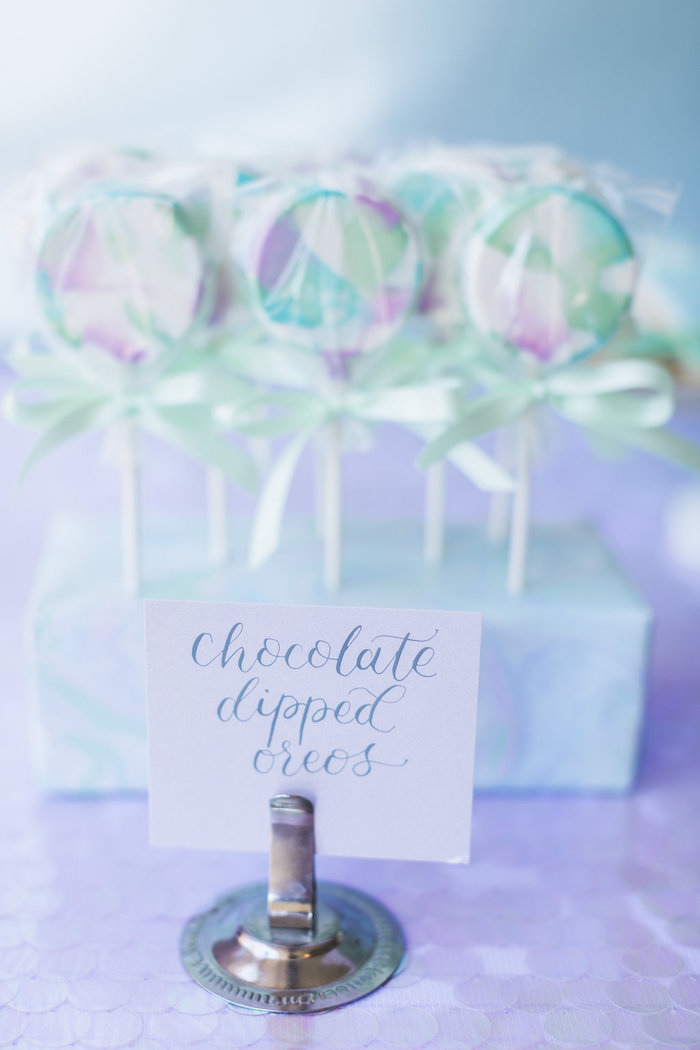 Chocolate Dipped Oreos from a Shimmering Mermaid Birthday Party on Kara's Party Ideas | KarasPartyIdeas.com (17)