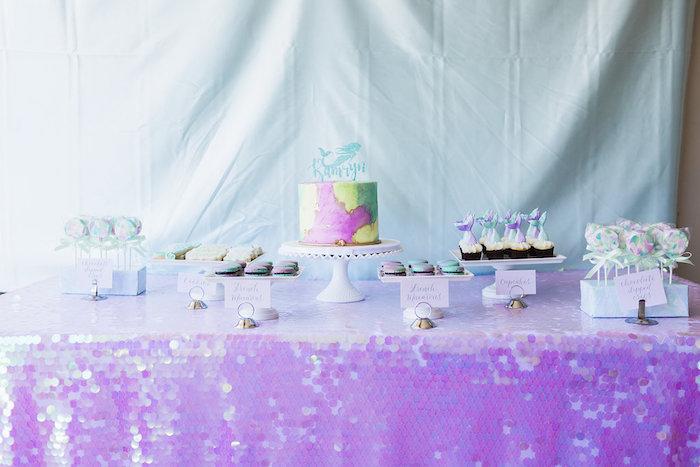 Shimmering Mermaid Birthday Party on Kara's Party Ideas | KarasPartyIdeas.com (25)