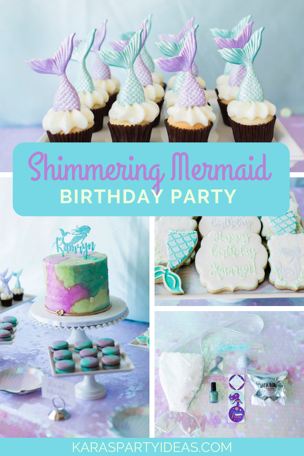 Shimmering Mermaid Birthday Party via Kara's Party Ideas - KarasPartyIdeas.com
