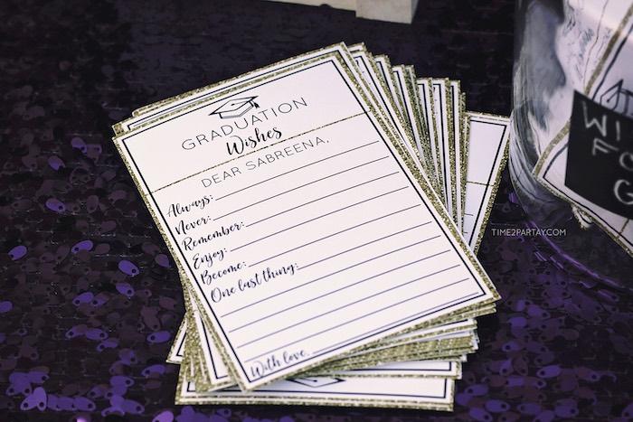Grad Wishes Print from a Sparkle & Shine Graduation Party on Kara's Party Ideas | KarasPartyIdeas.com (10)