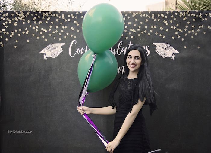 Congrats Grad Photo Backboard from a Sparkle & Shine Graduation Party on Kara's Party Ideas | KarasPartyIdeas.com (19)