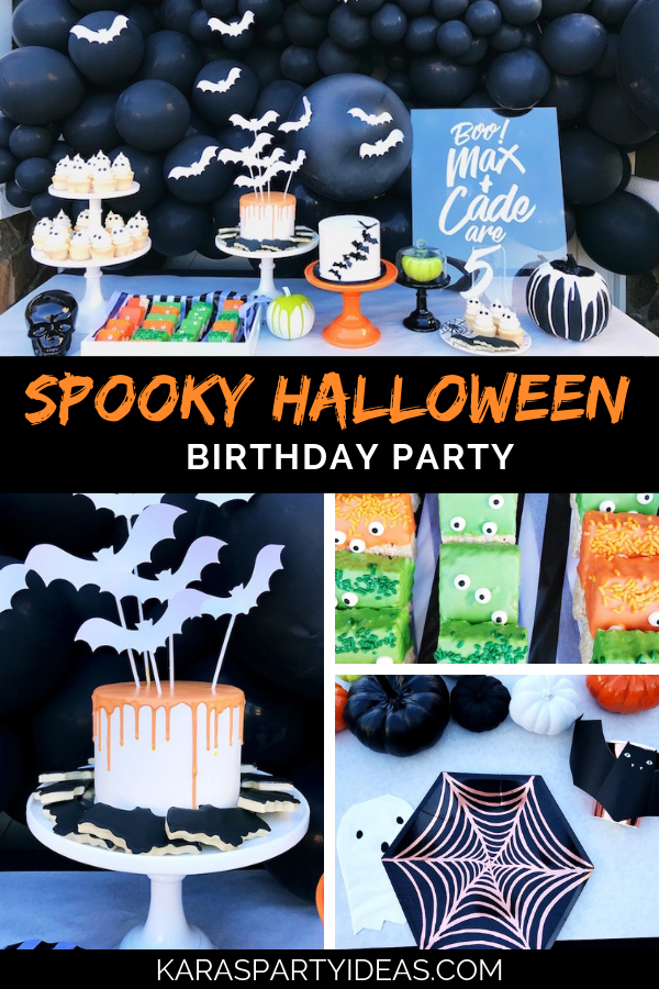 Spooky Halloween Birthday Party via Kara's Party Ideas - KarasPartyIdeas.com