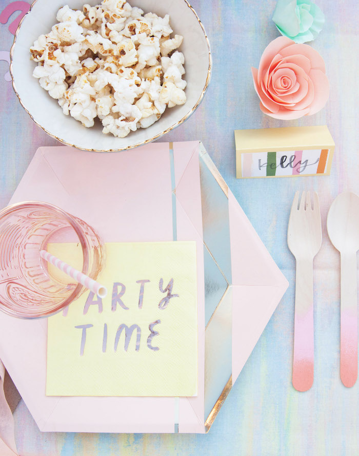 Ombre Party Time Table Setting from a Summer Vibes Picnic Party on Kara's Party Ideas | KarasPartyIdeas.com (24)