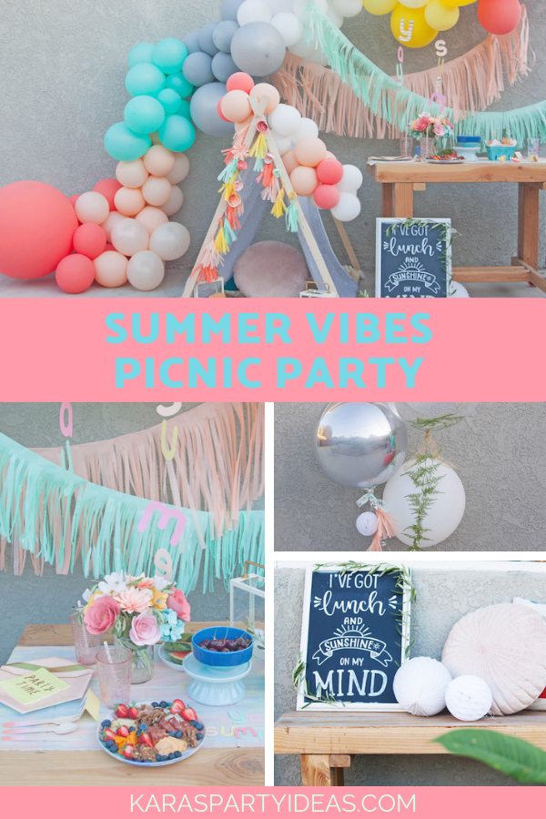 Summer Vibes Picnic via Kara's Party Ideas - KarasPartyIdeas.com