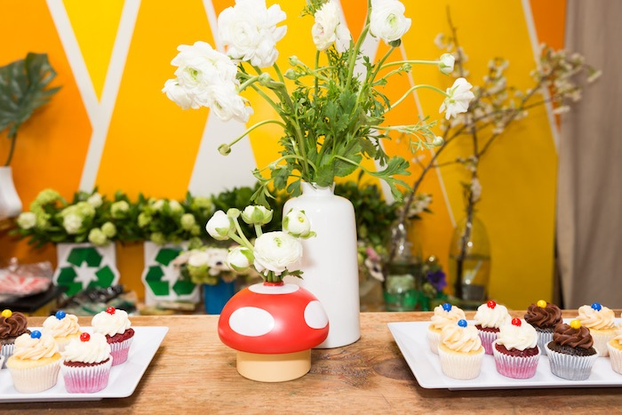 Mario Themed Party Table from a Super Mario Birthday Party on Kara's Party Ideas | KarasPartyIdeas.com (7)