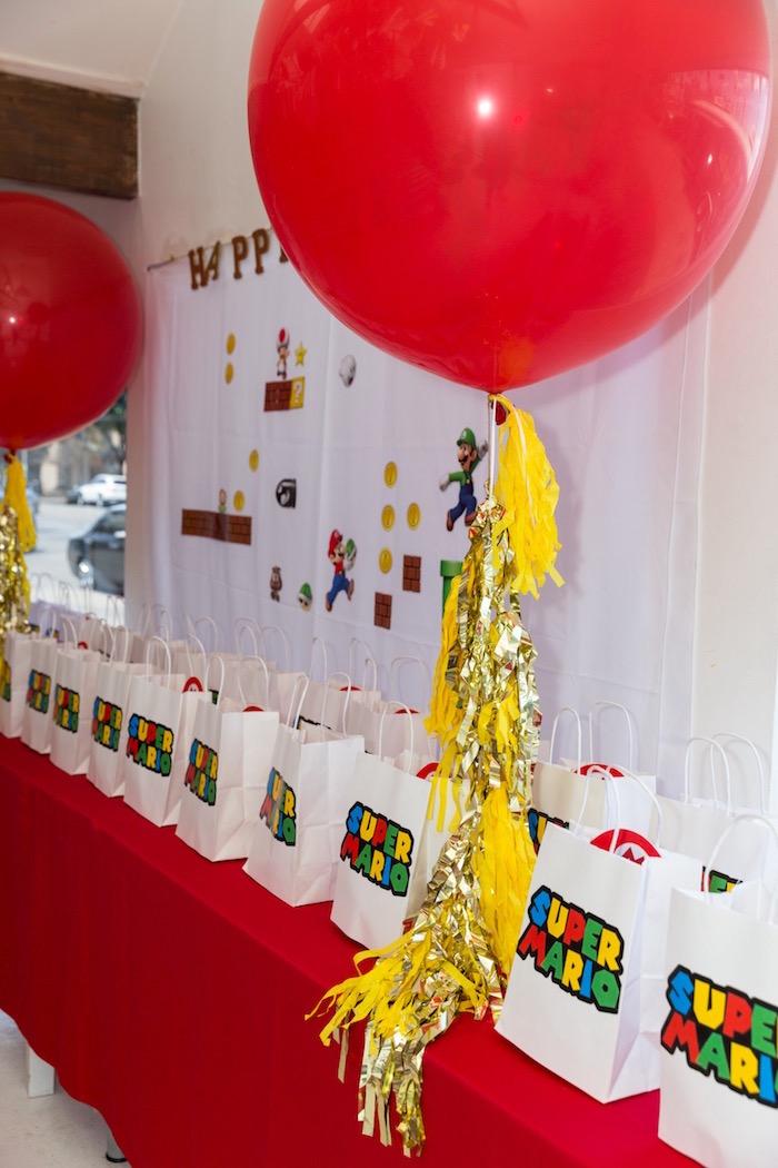 Super Mario Gift Bags + Table from a Super Mario Birthday Party on Kara's Party Ideas | KarasPartyIdeas.com (17)