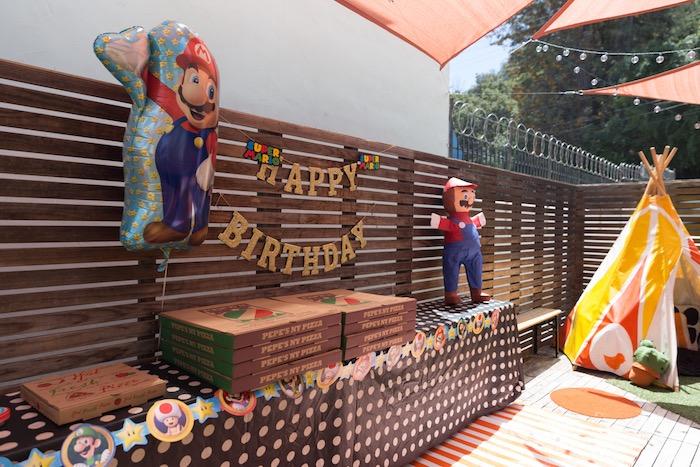 Super Mario Food Table from a Super Mario Birthday Party on Kara's Party Ideas | KarasPartyIdeas.com (10)