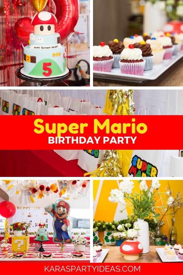 Super Mario Birthday Party via Kara's Party Ideas - KarasPartyIdeas.com