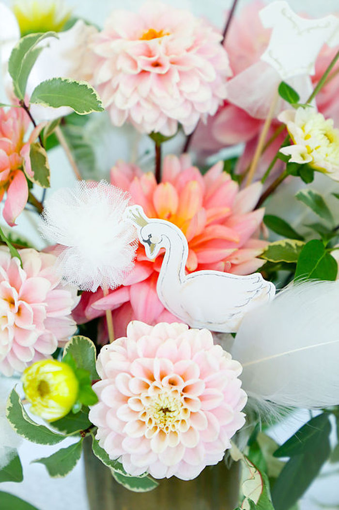 Swan-inspired Blooms from a Swan Lake Birthday Soiree on Kara's Party Ideas | KarasPartyIdeas.com (8)