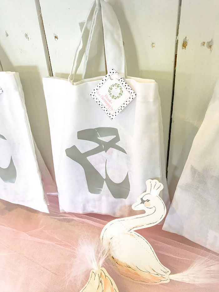 Ballerina Bag from a Swan Lake Birthday Soiree on Kara's Party Ideas | KarasPartyIdeas.com (4)