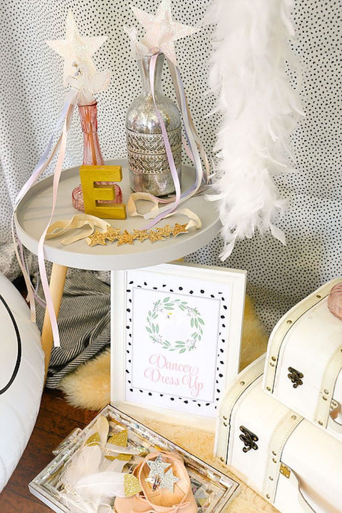 Swan Dancer Dress Up Station from a Swan Lake Birthday Soiree on Kara's Party Ideas | KarasPartyIdeas.com (27)