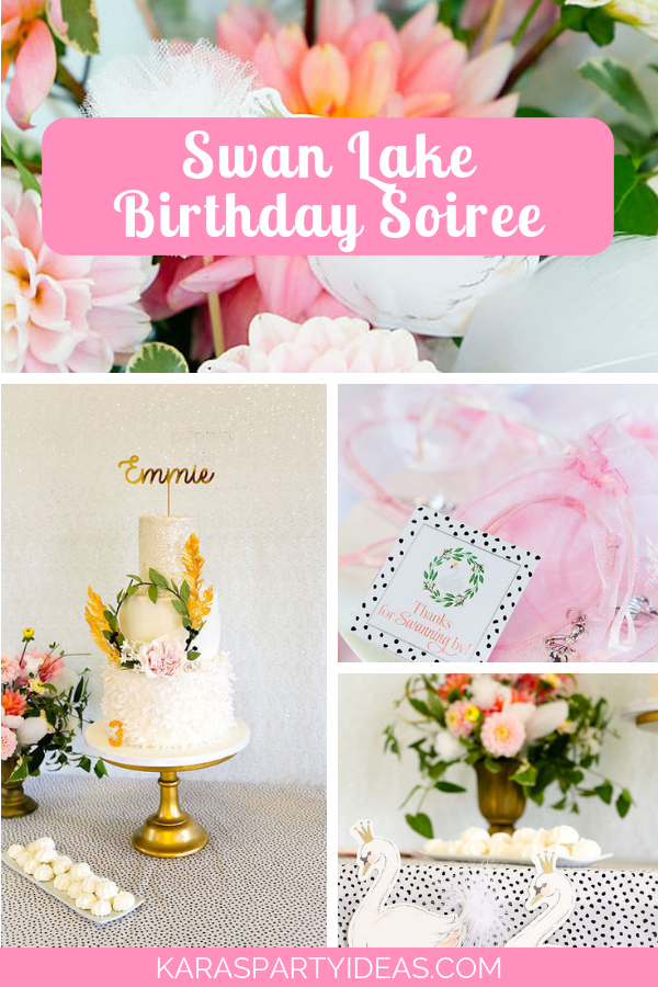 Swan Lake Birthday Soiree via Kara's Party Ideas - KarasPartyIdeas.com