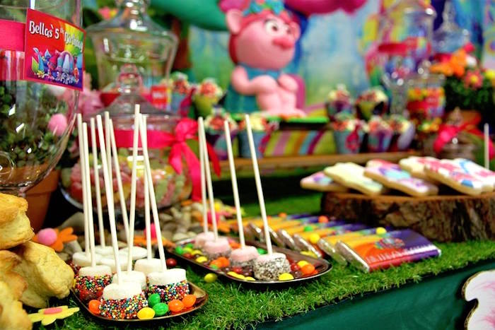 Marshmallow Pops + Candy from a Trolls Birthday Party on Kara's Party Ideas | KarasPartyIdeas.com (20)