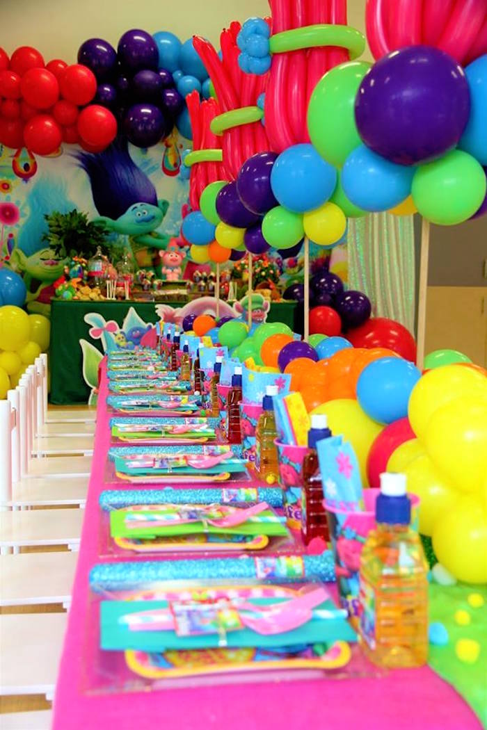 Trolls Tablescape from a Trolls Birthday Party on Kara's Party Ideas | KarasPartyIdeas.com (19)