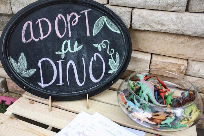 Dino Adoption from a Tropical Dino-mite Birthday Party on Kara's Party Ideas | KarasPartyIdeas.com (5)