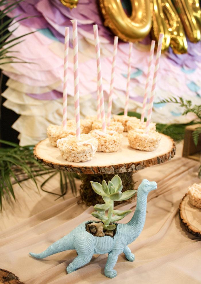 Rice Crispy Treats from a Tropical Dino-mite Birthday Party on Kara's Party Ideas | KarasPartyIdeas.com (22)