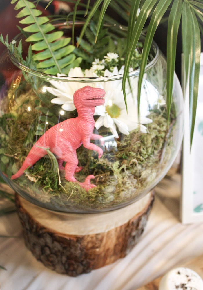 Tropical Dinosaur Dome + Centerpiece from a Tropical Dino-mite Birthday Party on Kara's Party Ideas | KarasPartyIdeas.com (19)