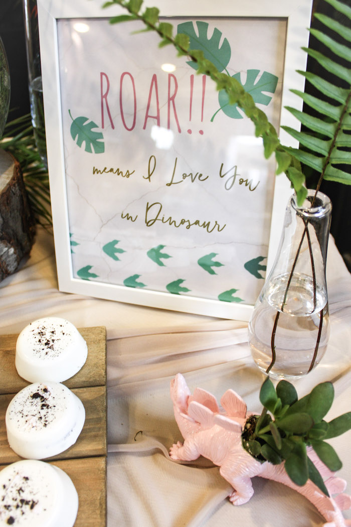 ROAR Means I Love You - Dinosaur Print from a Tropical Dino-mite Birthday Party on Kara's Party Ideas | KarasPartyIdeas.com (18)