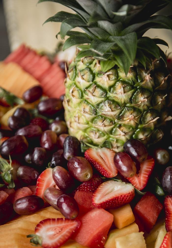 Fresh Fruit from a Tropical Luau Birthday Party on Kara's Party Ideas | KarasPartyIdeas.com (24)