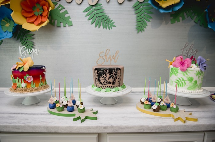 Tropical/Moana-inspired Dessert Table from a Tropical Luau Birthday Party on Kara's Party Ideas | KarasPartyIdeas.com (16)
