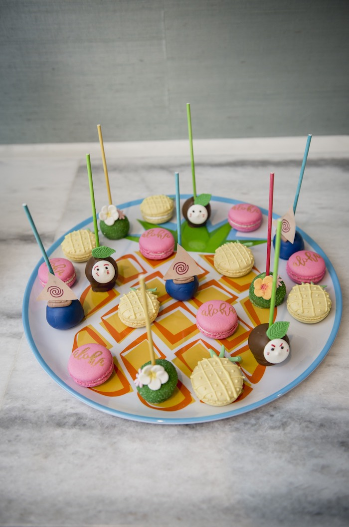 Cake Pops + Macarons from a Tropical Luau Birthday Party on Kara's Party Ideas | KarasPartyIdeas.com (13)