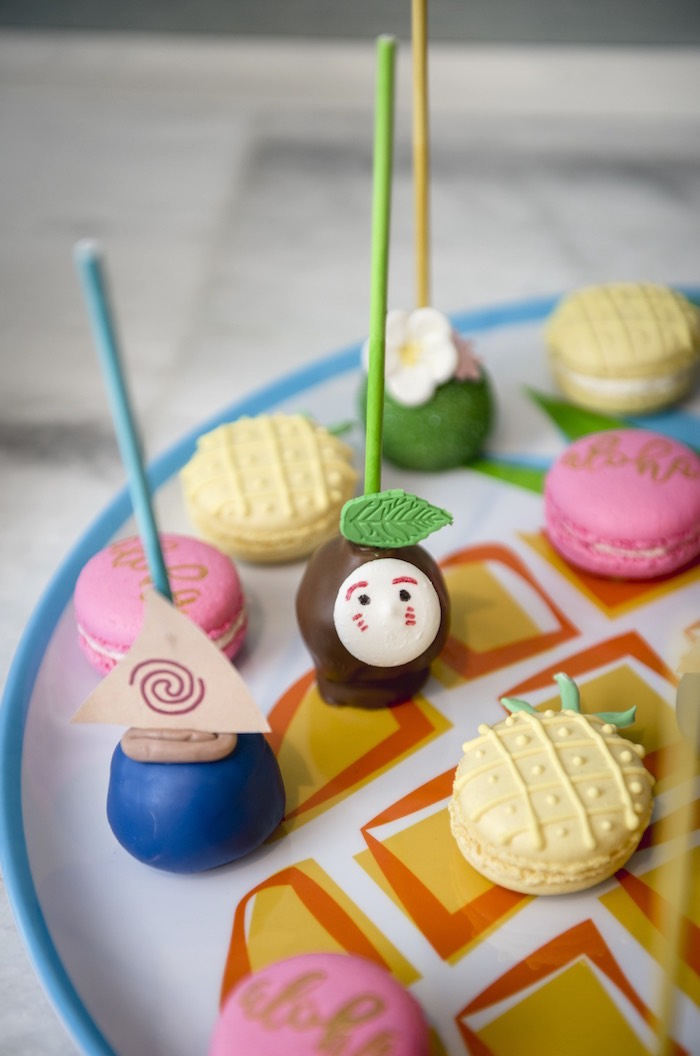Cake Pops + Macarons from a Tropical Luau Birthday Party on Kara's Party Ideas | KarasPartyIdeas.com (12)