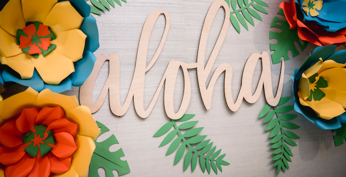 Tropical Luau Birthday Party on Kara's Party Ideas | KarasPartyIdeas.com (3)