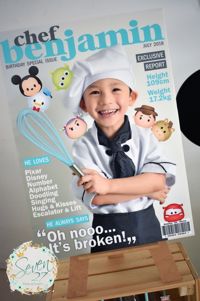 Magazine Cover Highlight Board from a Tsum Tsum Bakery Birthday Party on Kara's Party Ideas | KarasPartyIdeas.com (20)