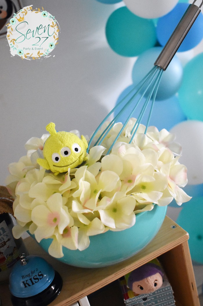 Mixing Bowl Blooms from a Tsum Tsum Bakery Birthday Party on Kara's Party Ideas | KarasPartyIdeas.com (18)