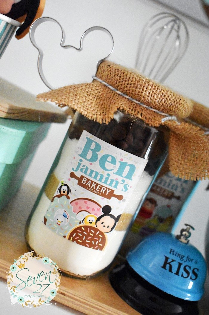 Cookie Mix Jar from a Tsum Tsum Bakery Birthday Party on Kara's Party Ideas | KarasPartyIdeas.com (16)