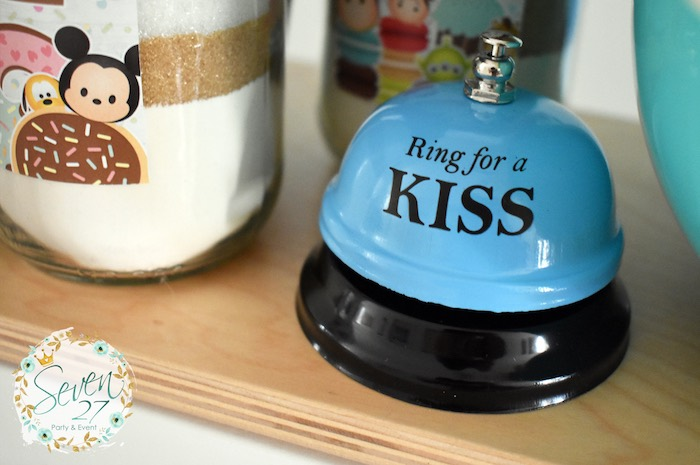 Ring for a Kiss - Bell from a Tsum Tsum Bakery Birthday Party on Kara's Party Ideas | KarasPartyIdeas.com (15)