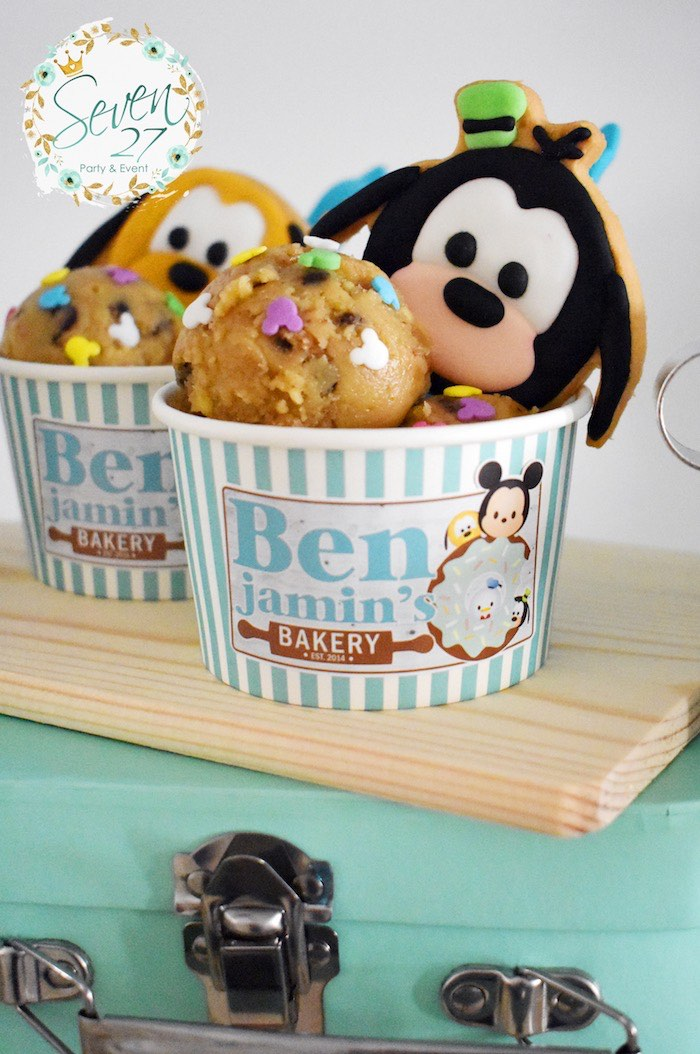 Cookies & Dough Balls from a Tsum Tsum Bakery Birthday Party on Kara's Party Ideas | KarasPartyIdeas.com (14)