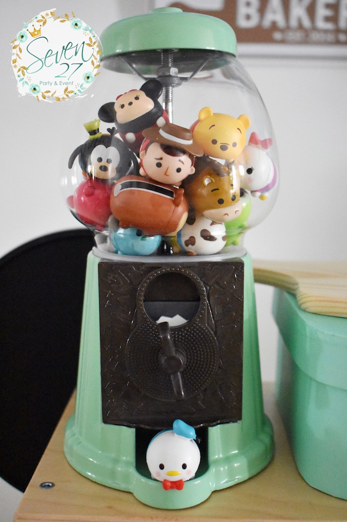 Tsum Tsum Filled Gumball Machine from aTsum Tsum Bakery Birthday Party on Kara's Party Ideas | KarasPartyIdeas.com (13)