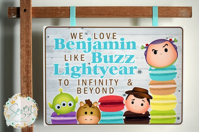 Tsum Tsum Party Signage from a Tsum Tsum Bakery Birthday Party on Kara's Party Ideas | KarasPartyIdeas.com (11)