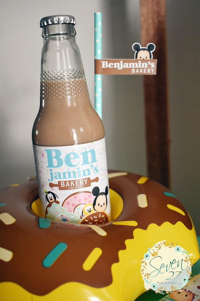 Inflatable Doughnut Drink Holder from a Tsum Tsum Bakery Birthday Party on Kara's Party Ideas | KarasPartyIdeas.com (9)