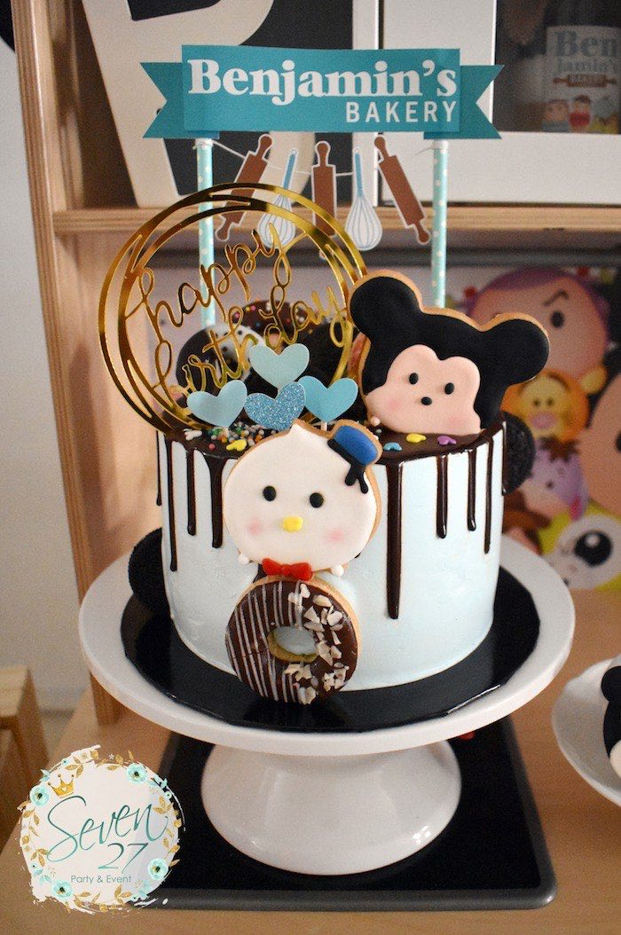 Tsum Tsum Character Drip Cake from a Tsum Tsum Bakery Birthday Party on Kara's Party Ideas | KarasPartyIdeas.com (25)