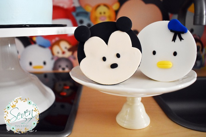 Tsum Tsum Character Cupcakes from a Tsum Tsum Bakery Birthday Party on Kara's Party Ideas | KarasPartyIdeas.com (24)