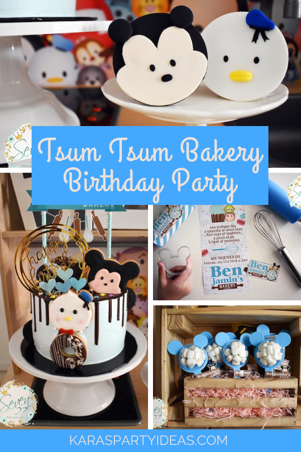 Tsum Tsum Bakery Birthday Party via Kara's Party Ideas - KarasPartyIdeas.com