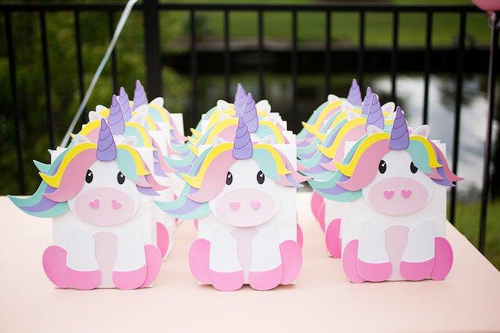 Unicorn Favors Sacks from a Unicorn 1st Birthday Party on Kara's Party Ideas | KarasPartyIdeas.com (13)