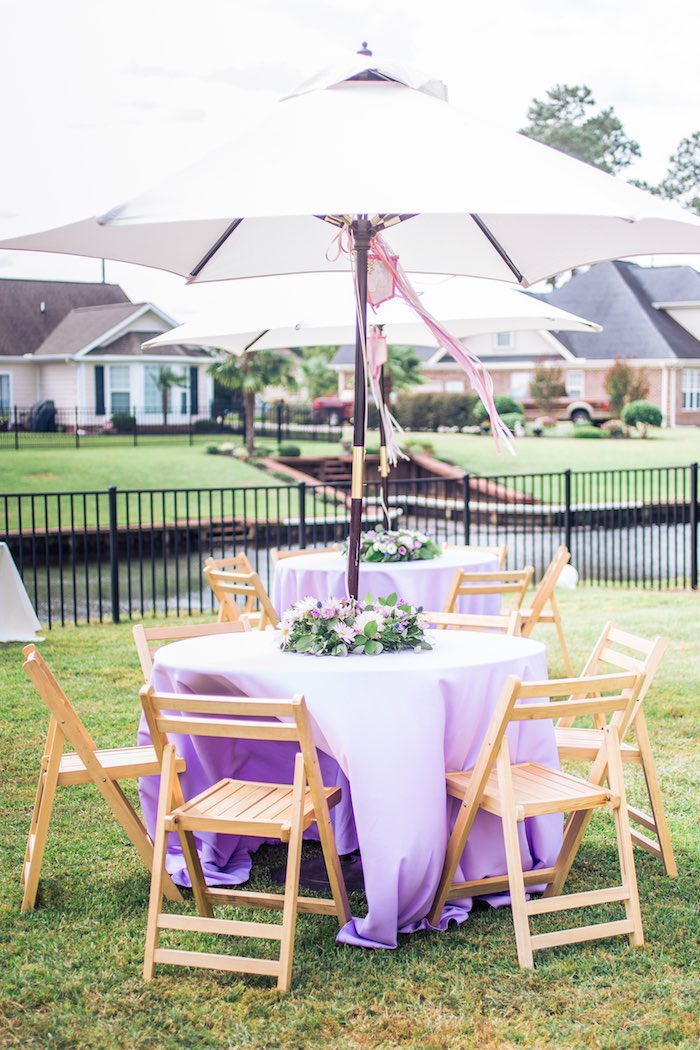 Guest Tables from a Unicorn 1st Birthday Party on Kara's Party Ideas | KarasPartyIdeas.com (23)