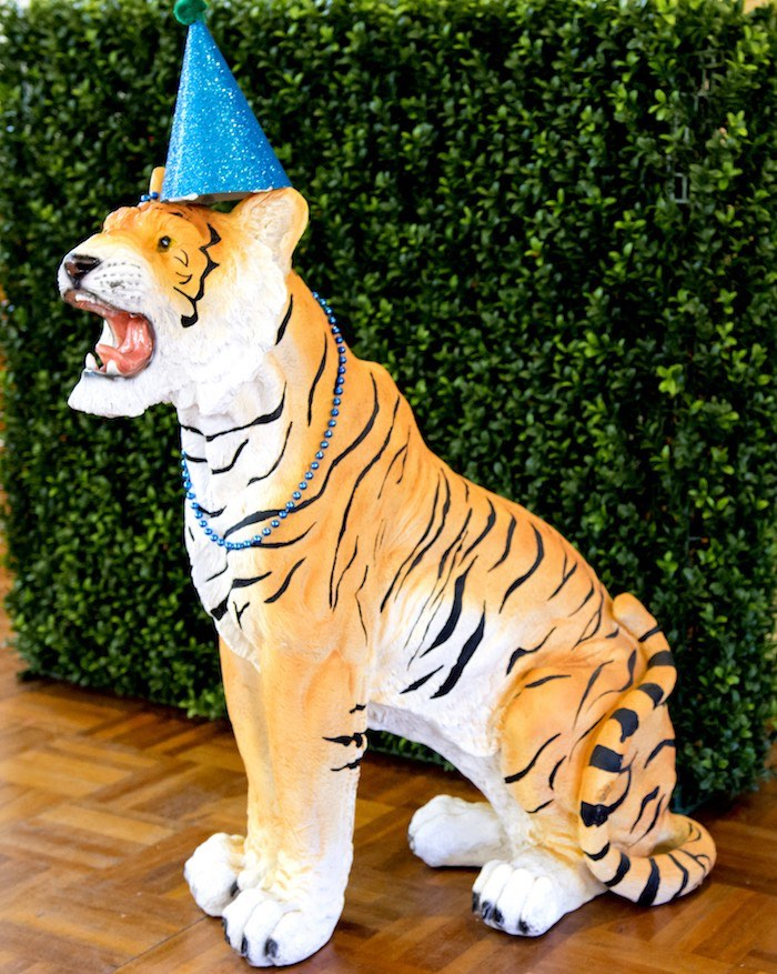 Tiger Prop from an Urban Jungle + Neon Animal Birthday Party Urban Jungle + Neon Animal Birthday Party on Kara's Party Ideas | KarasPartyIdeas.com (14)