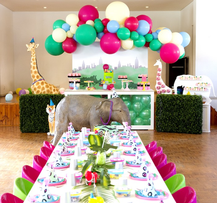 Urban Jungle + Neon Animal Birthday Party Urban Jungle + Neon Animal Birthday Party on Kara's Party Ideas | KarasPartyIdeas.com (11)