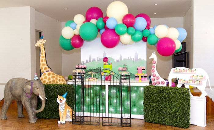 Urban Jungle + Neon Animal Birthday Party Urban Jungle + Neon Animal Birthday Party on Kara's Party Ideas | KarasPartyIdeas.com (10)