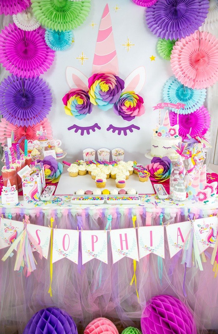 Vibrant Unicorn Birthday Party on Kara's Party Ideas | KarasPartyIdeas.com (10)